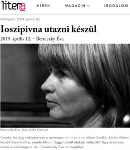 Berniczky Éva Ioszipivna utazni készül. Litera-napló